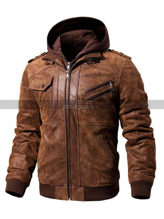 PUBG Playerunknowns Battlegrounds Player Leather Hooded Jacket