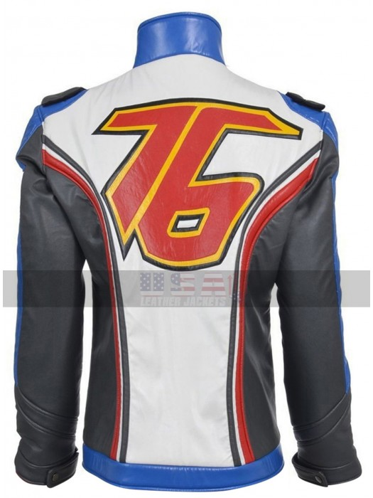 Overwatch Soldier 76 Motorcycle Costume Leather Jacket