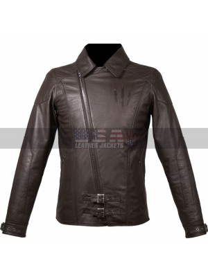 Witcher 3 Wild Hunt Geralt Cosplay Costume Biker Leather Jacket