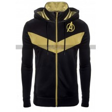 Avengers Endgame Costume Gold Black Hooded Jacket