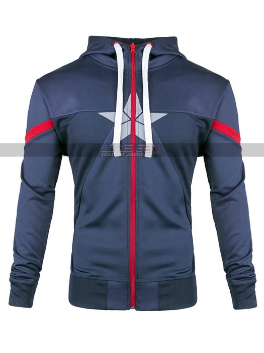 Captain America Civil War Costume Steve Rogers Hoodie