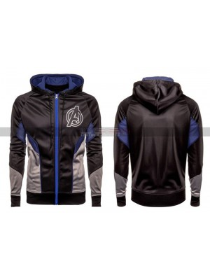 Avengers Endgame A Logo Costume Male Black Quantum Hooded Jacket