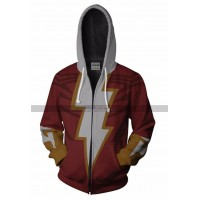 ShazamBilly Batson Cosplay Costume Red Hoodie Jacket