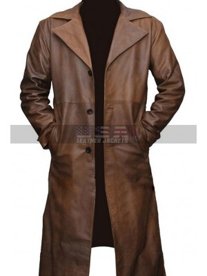 Ben Afflick Dawn Of Justice Batman Vs Superman Leather Coat