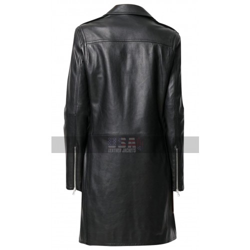 Womens Slim Fit Mid Length Lapel Collar Black Leather Trench Coat Women trench coats from the best designers on yoox. womens slim fit mid length lapel collar black leather trench coat