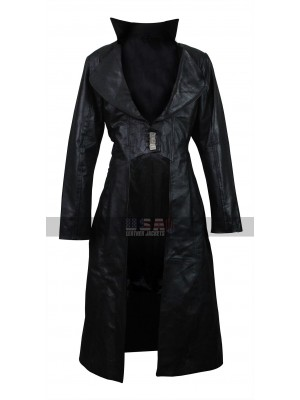 BloodRayne The Third Reich Natassia Malthe Leather Trench Coat