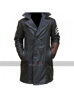 Suicide Squad Captain Boomerang Fur Shearling Leather Coat