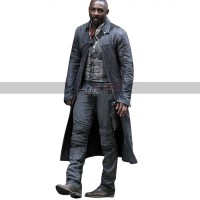 The Dark Tower Movie Costumes Idris Elba Black Leather Trench Coat