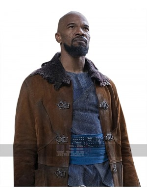 Robin Hood Little John (Jamie Foxx) Suede Leather Trench Coat