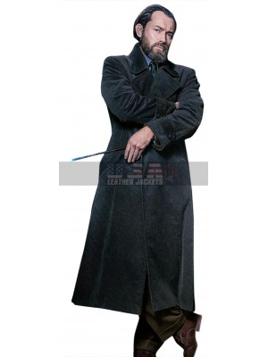 Jude Law Fantastic Beasts 2 Albus Dumbledore Grey Long Coat