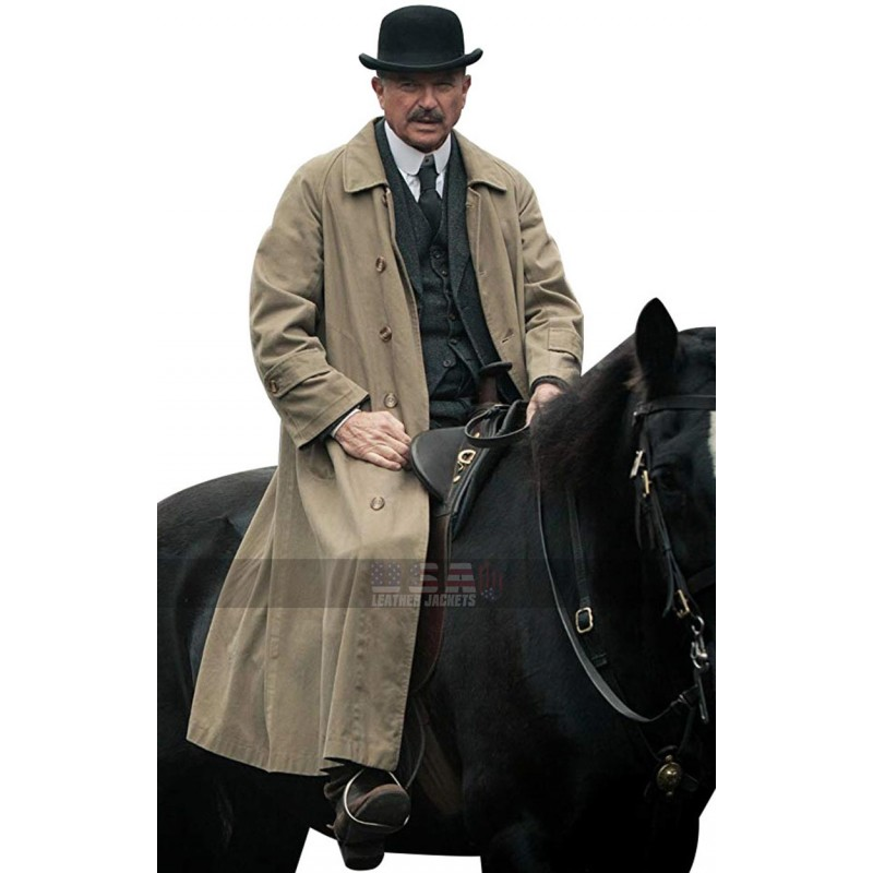Peaky Blinders Sam Neill Beige Cotton Coat