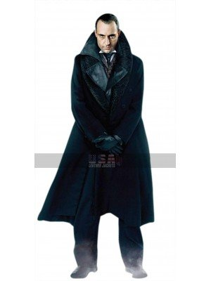 Sherlock Holmes Lord Blackwood (Mark Strong) Black Leather Trench Coat
