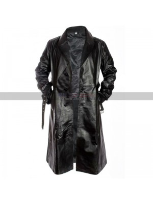 Sin City Costumes Mickey Rourke Black Leather Trench Coat