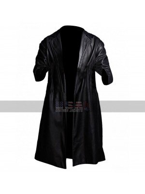 SuperFly Youngblood Priest (Trevor Jackson) Black Leather Coat