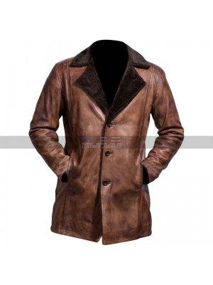 The Wolverine Costumes Hugh Jackman Worn Fur Brown Trench Coat