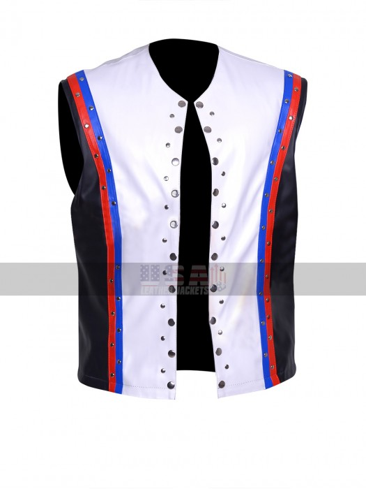 A.J. Styles WWE Allen Neal Jones White Leather Vest