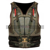 Batman Dark Knight Rises Bane Cosplay Military Leather Vest