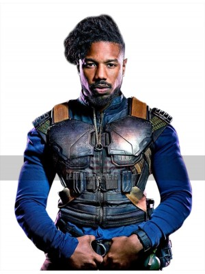 Erik Killmonger Black Panther Armor Style Leather Vest Costume