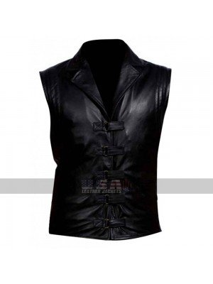 Van Helsing Hugh Jackman Shirt Collar Black Leather Vest