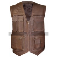 Jurassic World Fallen Kingdom Chris Pratt Unisex Leather Vest