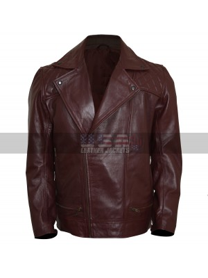 WWE Adam Copeland Edge Returns 2018 Brown Biker Leather Jacket
