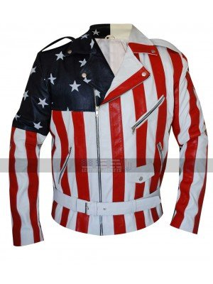 Unique Style American Rider Lapel Collar Biker Faux Leather Jacket