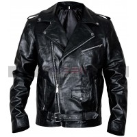 Cafe Racer Classic Brando Biker Style Black Leather Jacket