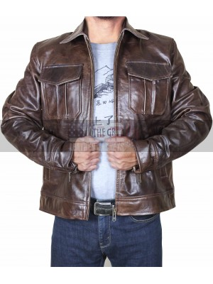 Copper Classic Rub Off Vintage Biker Style Brown Leather Jacket