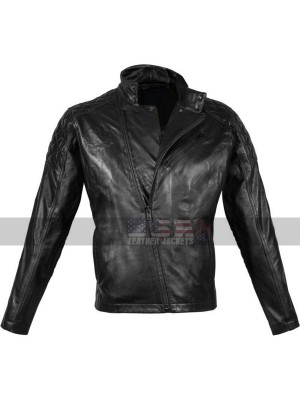 Metal Gear Solid Black Motorcycle Leather Jacket