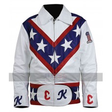 Evel Knievel Daredevil Motorcycle White Biker Leather Costume