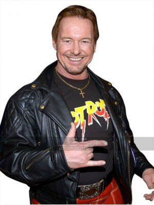 Rowdy Roddy Piper WWE Wrestler Quilted Shoulders Leather Jacket