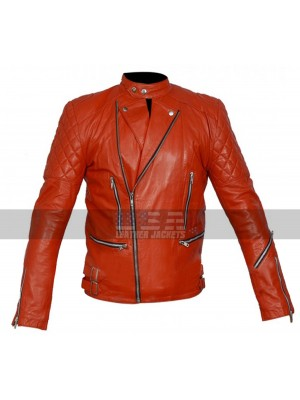 Marlon Brando Unisex Perfecto Red Biker Leather Jacket