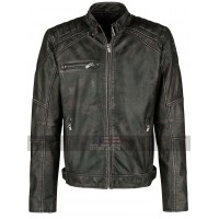 Cafe Racer Vintage Classic Brando Biker Black Motorcycle Leather Jacket