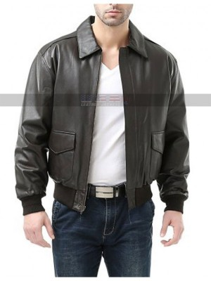 USAF 21st Century A-2 Flight Black Bomber Leather Jacket
