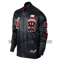 Marvin The Martian Air Jordan Black Bomber Leather Jacket