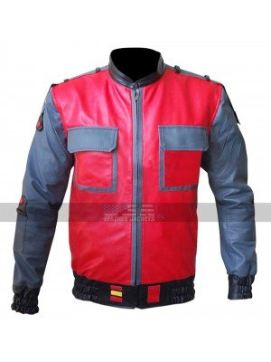 Back To The Future 2015 Marty McFly Bomber Leather Jacket