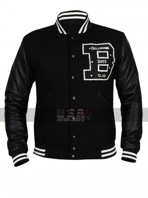 Mens Billionaire Boys Club BBC Varsity Black Letterman Wool Jacket
