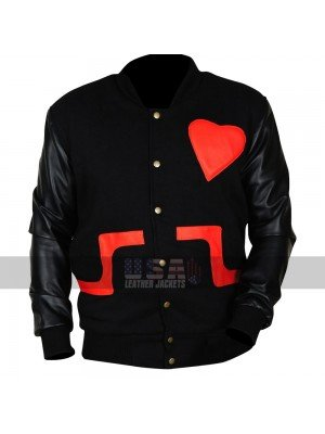 Chris Brown Love Not Hate Valentines Bomber Leather Letterman Jacket