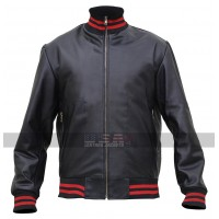 Eminem Song Not Afraid Black Bomber Leather Jacket