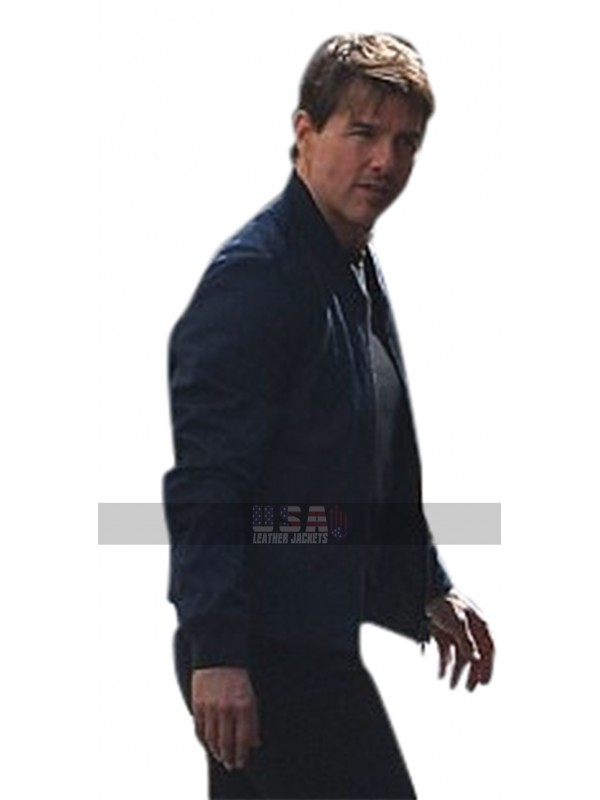 Mission Impossible 6 Fallout Ethan Hunt (Tom Cruise) Bomber Leather Jacket