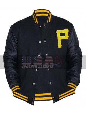 Pittsburgh Pirates Majestic Varsity Letterman Bomber Jacket