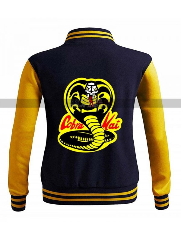Mens Moletom Karate Kid College Cobra Kai Leather Jacket