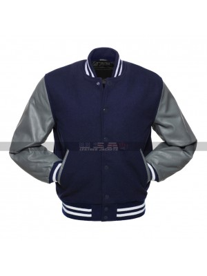 Rim of the World High Alex School Blue Bomber Leather Jacket