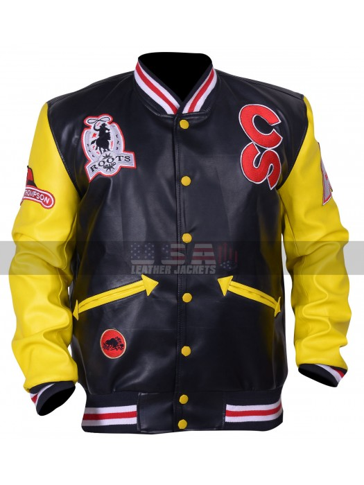 Calgary Stampede Roots Cowboy Bomber Leather Jacket