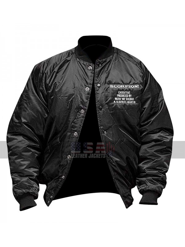Drake Scorpion June Twenty Eighteen Black Bomber Satin Jacket
