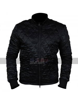 American Assassin Michael Keaton (Stan Hurley) Bomber Satin Jacket
