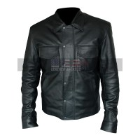Mens Adam Lambert Singer Black Leather Jacket