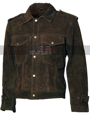 John Lennon Beatles Rubber Soul Brown Suede Leather Jacket