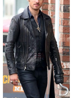 Colin O'Donoghue Once Upon Time S5 Captain Hook Leather Jacket
