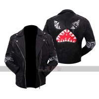 Daft Punk Instant Crush Shark Black Leather Jacket Men's Halloween Pumpkin Costumes